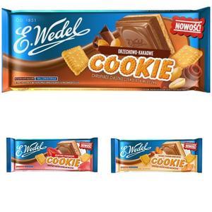 Cookie, Czekolada mleczna chrupiące ciastko - różne smaki marki Wedel - zdjęcie nr 1 - Bangla