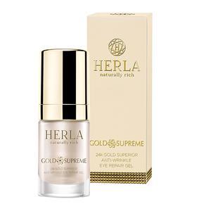 Gold Supreme, Przeciwzmarszczkowy żel do okolic oczu Superior Repair 24k Złoto marki Herla - zdjęcie nr 1 - Bangla