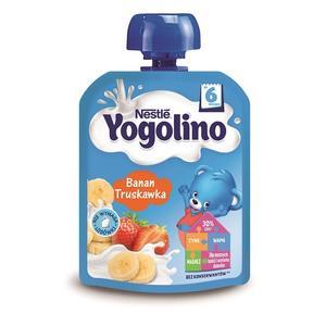 Yogolino, Deserek mleczno-owocowy Banan Truskawka marki Kaszki Nestlé - zdjęcie nr 1 - Bangla