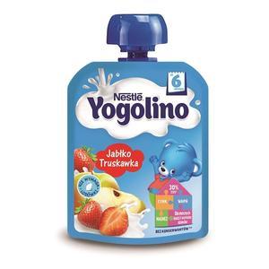 Yogolino, Deserek mleczno-owocowy Jabłko Truskawka marki Kaszki Nestlé - zdjęcie nr 1 - Bangla