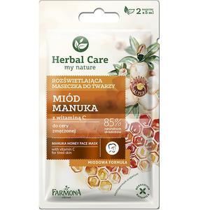 Herbal Care, Rozświetlająca maseczka do twarzy Miód Manuka z witaminą C marki Farmona - zdjęcie nr 1 - Bangla