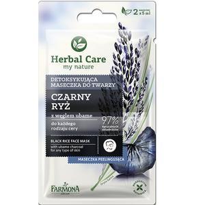 Herbal Care, Detoksykująca maseczka do twarzy Czarny Ryż z węglem ubame marki Farmona - zdjęcie nr 1 - Bangla