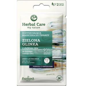 Herbal Care, Oczyszczająca maseczka do twarzy Zielona Glinka z olejkiem chia marki Farmona - zdjęcie nr 1 - Bangla