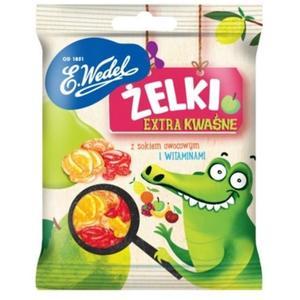 Żelki ekstra kwaśne z sokiem owocowym i witaminami marki Wedel - zdjęcie nr 1 - Bangla