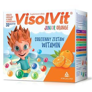 Junior Orange, Proszek musujący o smaku pomarańczowym w saszetkach marki Visolvit - zdjęcie nr 1 - Bangla
