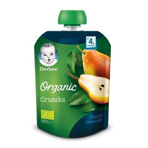 Gerber Organic, Gruszka - owocowy deserek dla niemowlęcia marki Gerber - zdjęcie nr 1 - Bangla