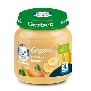 Gerber Organic, Gruszka, Banan - owocowy mus dla niemowląt marki Dania gotowe Gerber - zdjęcie nr 1 - Bangla