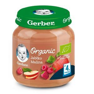 Gerber Organic, Jabłko Malina - mus owocowy dla niemowląt marki Dania gotowe Gerber - zdjęcie nr 1 - Bangla