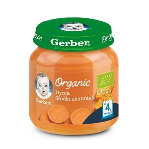 Gerber Organic, Dynia Słodki ziemniak - warzywny krem dla niemowląt marki Dania gotowe Gerber - zdjęcie nr 1 - Bangla