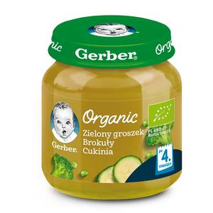 Gerber Organic, Zielony groszek Brokuły Cukinia - warzywny krem dla niemowląt marki Dania gotowe Gerber - zdjęcie nr 1 - Bangla