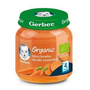 Gerber Organic, Marchewka Słodki ziemniak - warzywny krem dla niemowląt marki Dania gotowe Gerber - zdjęcie nr 1 - Bangla
