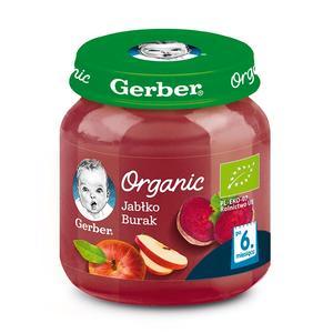 Gerber Organic, Jabłko Burak - owocowo-warzywny mus dla niemowląt marki Dania gotowe Gerber - zdjęcie nr 1 - Bangla