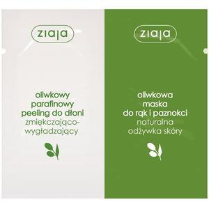 Ziaja Oliwkowa, Duosaszetka - parafinowy peeling do dłoni i maska do rąk i paznokci marki Ziaja - zdjęcie nr 1 - Bangla