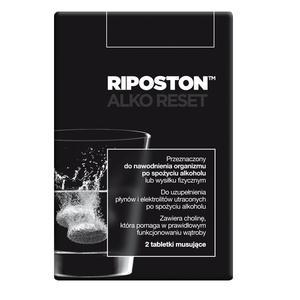 Riposton Alko Reset, Tabletki musujące do nawodnienia organizmu po spożyciu alkoholu lub wysiłku fizycznym marki Aflofarm - zdjęcie nr 1 - Bangla