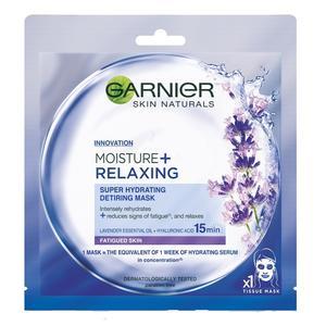 Skin Naturals, Maska nawilżająca do twarzy z ekstraktem z lawendy (Moisture+Relaxing) marki Garnier - zdjęcie nr 1 - Bangla