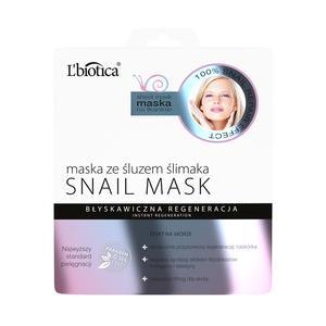 Snail Mask, Maska na tkaninie ze śluzem ślimaka marki L'biotica - zdjęcie nr 1 - Bangla