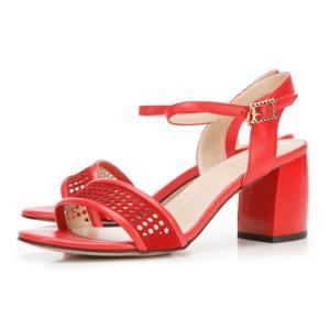 Sandały w kolorze meksykańskiej czerwieni marki Wittchen - zdjęcie nr 1 - Bangla