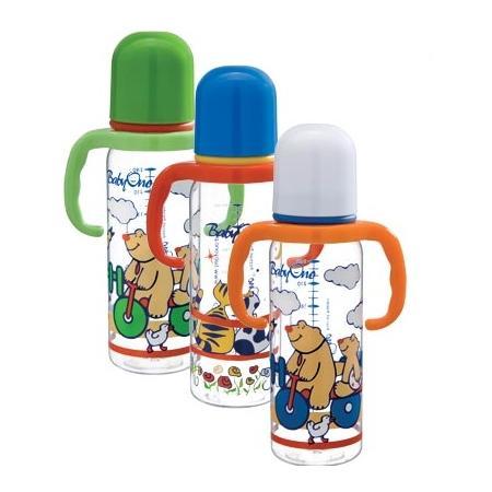 Butelka z uchwytatmi lub bez uchwytów, dla dzieci 0 - 6 m marki Baby Ono - zdjęcie nr 1 - Bangla