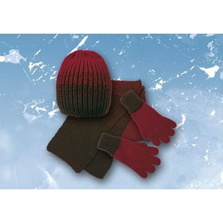 Komplet: czapka, rękawiczki i szalik Red Chili marki Mariquita - zdjęcie nr 1 - Bangla