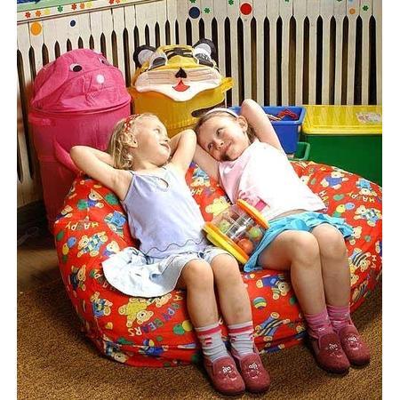 Fotel XL z Czerwonej Bawełny marki Fatty - zdjęcie nr 1 - Bangla