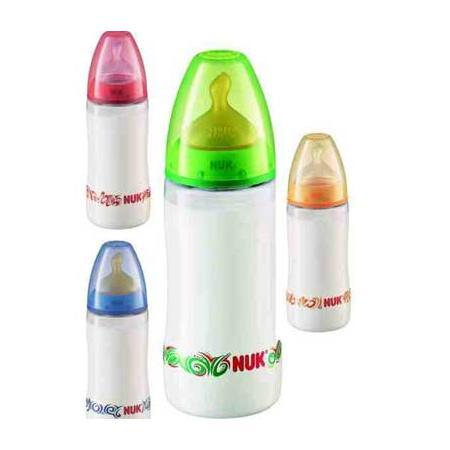 Butelka FIRST CHOICE z tworzywa 150 ml i 300 ml ze smoczkiem lateksowym marki Nuk - zdjęcie nr 1 - Bangla