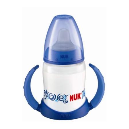 Butelka FIRST CHOICE 150 ml z ustnikiem i podwójnym uchwytem (do nauki picia ) marki Nuk - zdjęcie nr 1 - Bangla