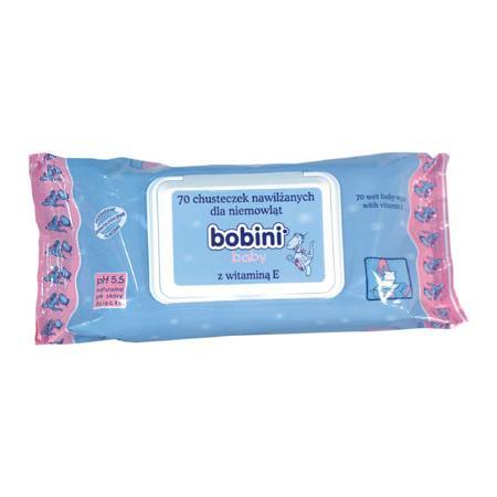 Baby, Chusteczki nawilżane dla niemowląt z wit. E marki Bobini - zdjęcie nr 1 - Bangla