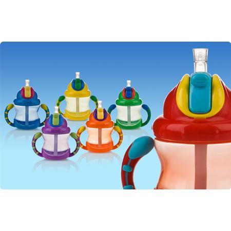 No-Spill Flip n' Sip Cup, Kubek pstryczek z uchwytem 9845 marki Nuby - zdjęcie nr 1 - Bangla