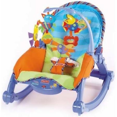 Leżaczek Bujaczek 2w1 Baby Gear Rocker z wibracjami, L0539 marki Fisher-Price - zdjęcie nr 1 - Bangla