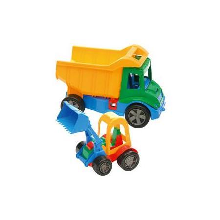 Multi Truck Wywrotka z dołączonym spychaczem-buggy, klockami lub z kręglami, 32220, 32330 marki Wader - zdjęcie nr 1 - Bangla