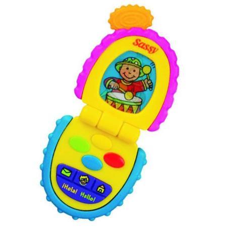 Telefon gadający z klapką marki Sassy - zdjęcie nr 1 - Bangla
