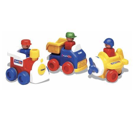 Seria zabawek Push'n'Go. Ciuchcia, ciężarówka, samolot marki Tomy - zdjęcie nr 1 - Bangla