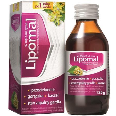 Lipomal, syrop na przeziębienie, gorączkę, kaszel marki Aflofarm - zdjęcie nr 1 - Bangla