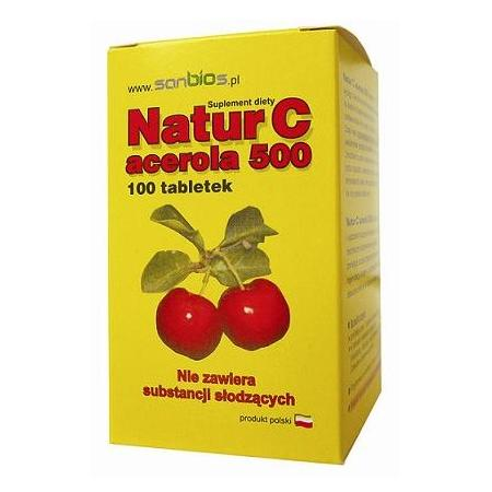 Natur C Acerola 500, tabletki marki Sanbios - zdjęcie nr 1 - Bangla