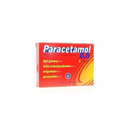 Paracetamol 0.5, tabletki marki Polfa Łódź - zdjęcie nr 1 - Bangla