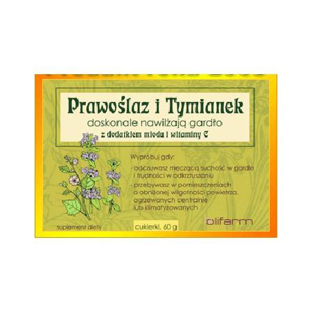 Prawoślaz i Tymianek, z dodatkiem miodu i witaminy C marki Olifarm - zdjęcie nr 1 - Bangla