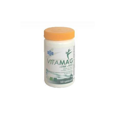 Vitamag + Cynk + Potas, tabletki do ssania marki Polfarmex - zdjęcie nr 1 - Bangla
