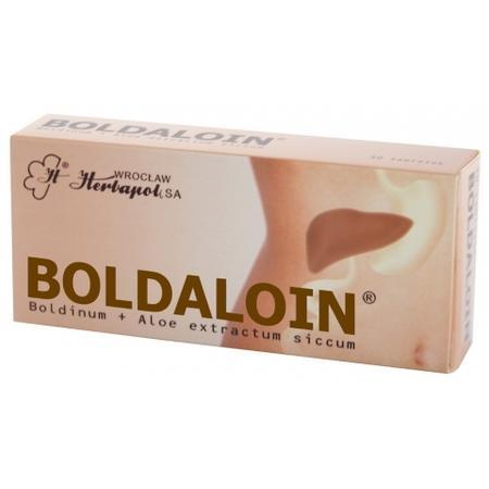Boldaloin, tabletki marki Herbapol Wrocław - zdjęcie nr 1 - Bangla