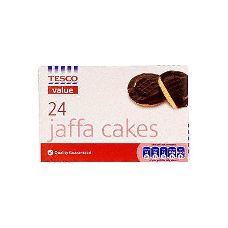Value, Jaffa Cakes, ciastka biszkoptowe z galaretką w czekoladzie marki Tesco - zdjęcie nr 1 - Bangla