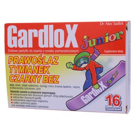 GardloX Junior, Prawoślaz, Tymianek, Czarny Bez, pastylki do ssania marki S-Lab - zdjęcie nr 1 - Bangla