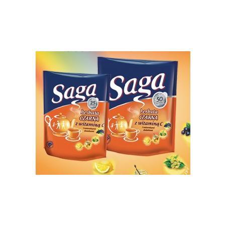 Saga, herbata czarna z witaminą C i naturalnymi dodatkami marki Saga - zdjęcie nr 1 - Bangla