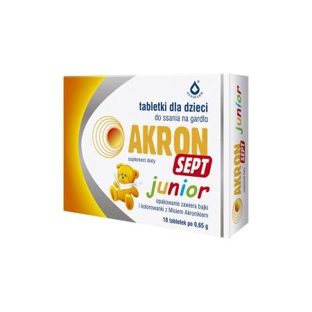 Akron Sept Junior, tabletki do ssania marki Oleofarm - zdjęcie nr 1 - Bangla