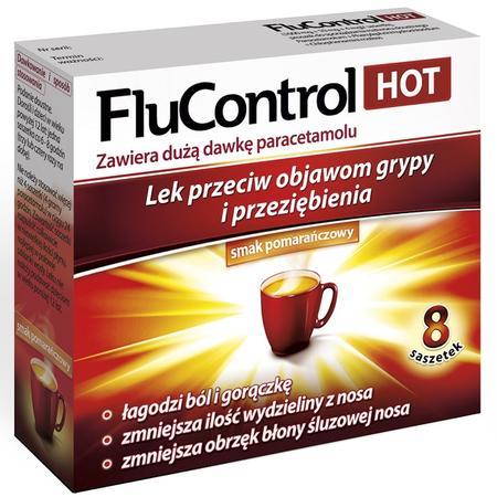 FluControl Hot, Lek przeciw objawom grypy i przeziębienia marki Aflofarm - zdjęcie nr 1 - Bangla