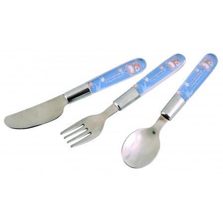 Metalowe sztućce dla dzieci: łyżka, widelec, nóż marki Canpol babies - zdjęcie nr 1 - Bangla