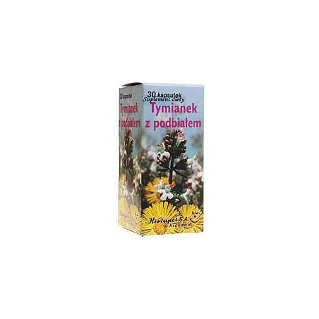 Tymianek z podbiałem, kapsułki marki Herbapol Kraków - zdjęcie nr 1 - Bangla