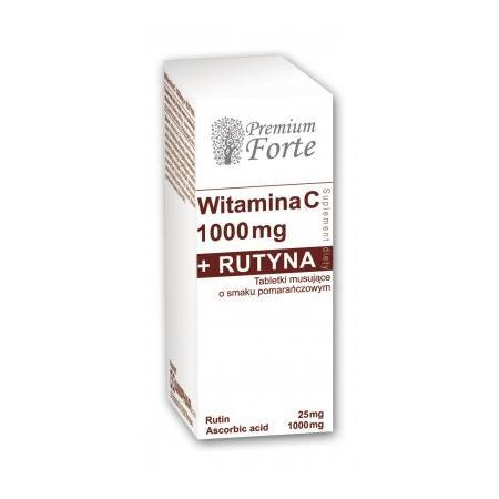 Premium Forte, Witamina C 1000 mg + Rutyna, tabletki musujace marki Uniphar - zdjęcie nr 1 - Bangla