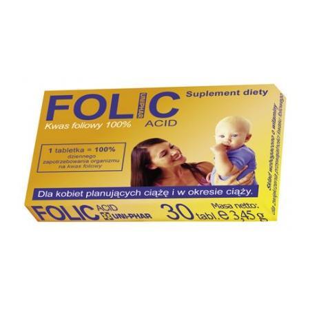 Folic Acid, kwas foliowy marki Uniphar - zdjęcie nr 1 - Bangla