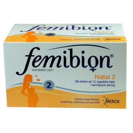 32659a1c4ef0c4 Femibion Natal 2, Witaminy dla kobiet w ciąży i karmiących piersią (Merck)