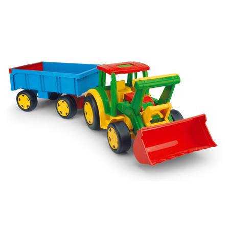Gigant traktor z łyżką i przyczepą, 66300 marki Wader - zdjęcie nr 1 - Bangla