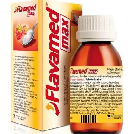 Flavamed Max, syrop marki Berlin Chemie/Menarini Polska Sp. z o. o. - zdjęcie nr 1 - Bangla